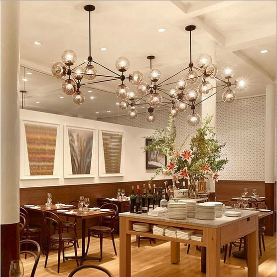 35101521 Head Dining Room Decoration LED Modo Chandelier Living Dha Lights Glass Globe Light Free Shipping