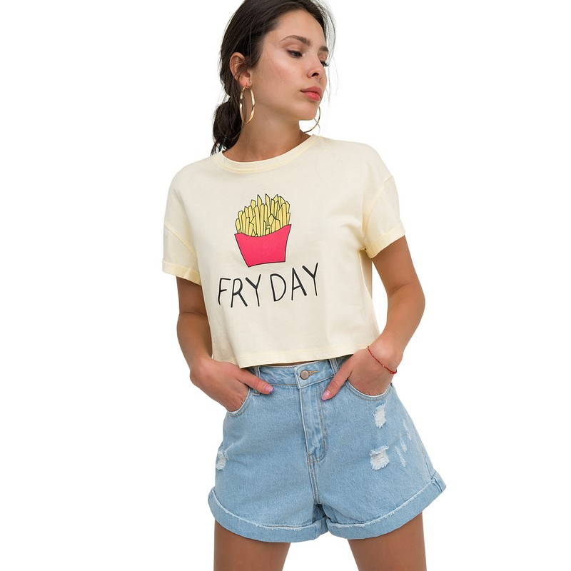 T Shirts befree 1821425417 cotton shirt short sleeve women clothes apparel for female TmallFS sweet style square neck short sleeve one piece floral print swimwear for women