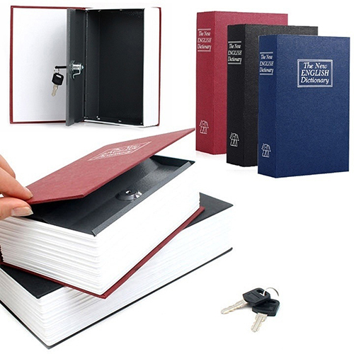 Home Security Dictionary Book Cash Jewelry Valuables Safe Storage Key Lock Box