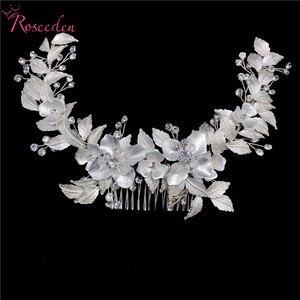 Image 4 - Peignes à cheveux longs, nouveaux accessoires de mariage en cristal, faits à la main, ornements de cheveux, Rose or, vente en gros, RE3486