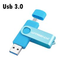 High speed 16gb OTG usb 3.0 128gb USB flash drive Wansenda 32gb Two-site pen drive for mobile phone 8gb usb stick 64gb pendrive