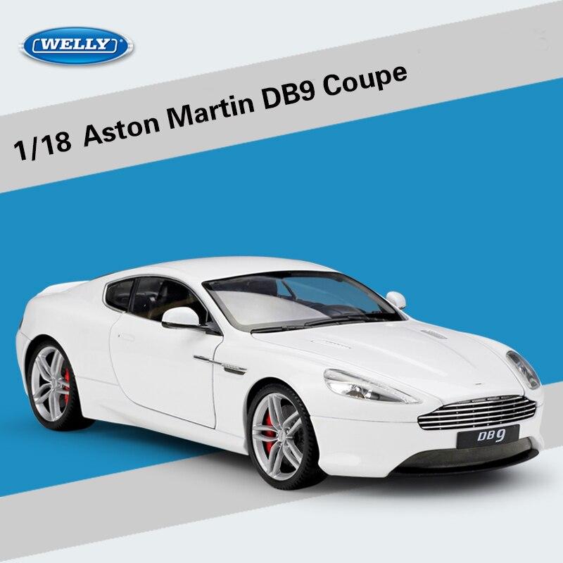 Welly 1:18 escala modelo de coche de aleación juguetes para Aston Martin DB9 Coupe de vehículos de juguete juguetes para niños regalos con Original caja-in Troquelado y vehículos de juguete from Juguetes y pasatiempos    1
