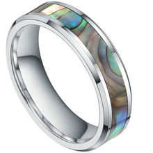 все цены на 6mm Inlay Abalone Shell Tungsten Carbide Ring Comfort Fit Gift US SIZE 4.5-14 онлайн
