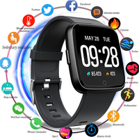 Smartwatch Waterproof Wearable Device Heart Rate Monitor Blood Pressure Oxygen Color Display Smart Watch For Android IOS PK A1