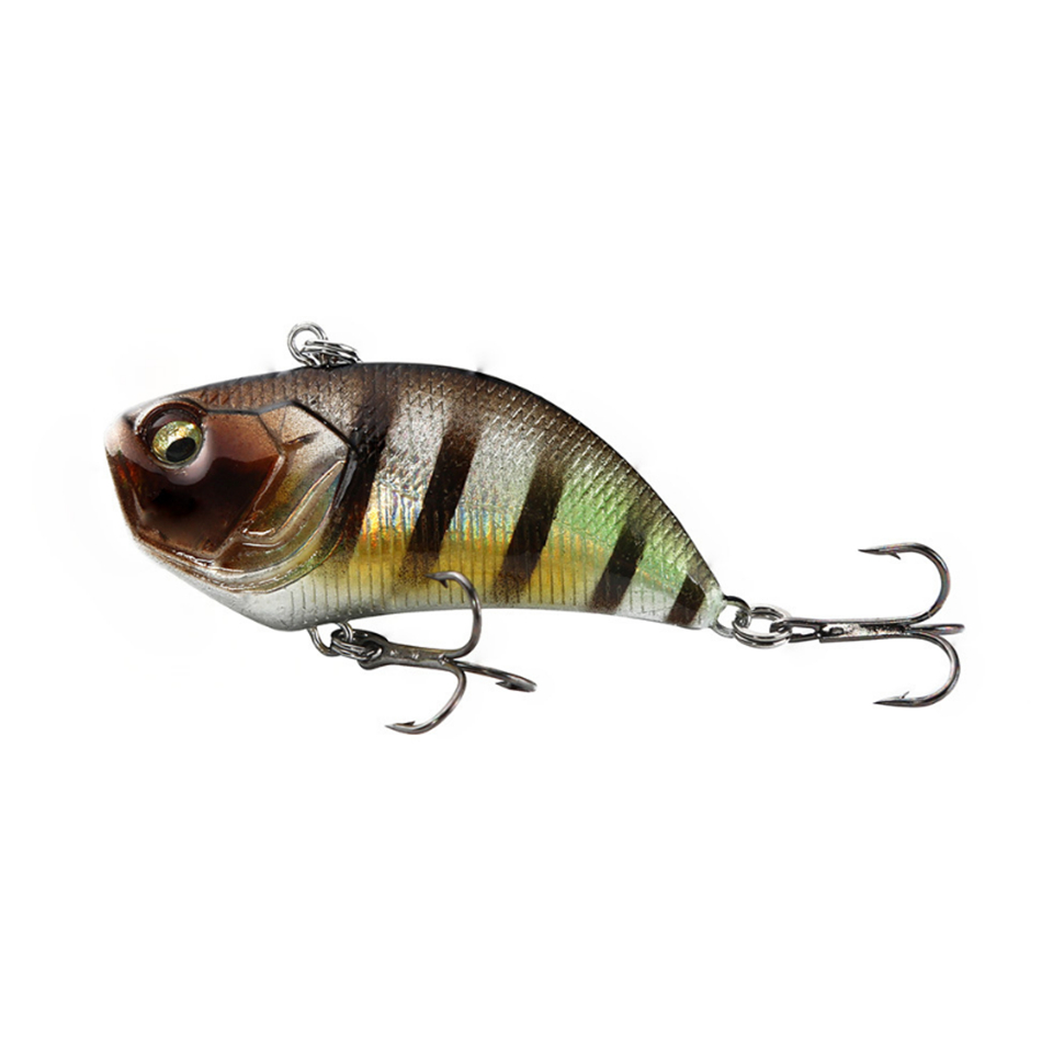 Image 5 - 1Pcs VIB Lure 12g 5.2cm Vibration Hard Bait 3D eyes ABS Plastic Fishing Tackle Wobblers Noisy Rattle Isca Artificial Pesca-in Fishing Lures from Sports & Entertainment