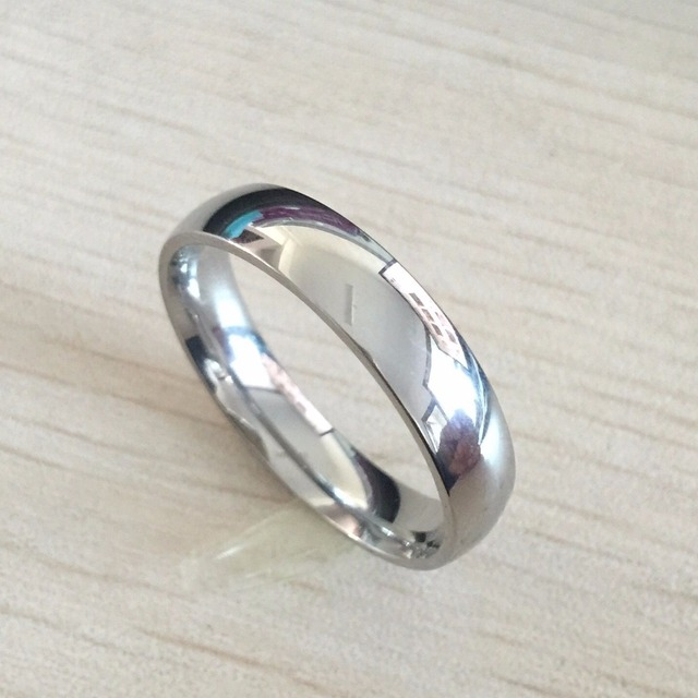 Clic Male Real White Gold Color 6mm Anium Steel Women Men Wedding Ring Top Quality Do