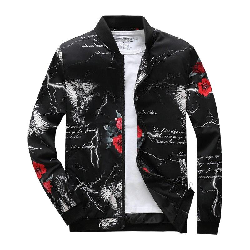 2018 outono nova moda pinted homens jaquetas e casacos slim fit jaqueta masculina jaqueta bomber AXP183