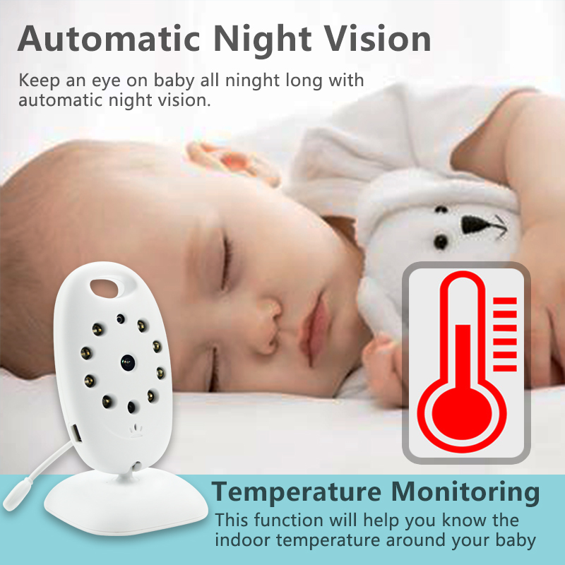 Wireless Video Baby Monitor with 2 Inches LCD Two Way Audio Talk Night Vision - VB601 9
