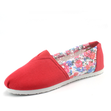 women's flats canvas espadrilles casual shoes loafers fashion red cut-outs lazy's shoes for women Hollow mesh flat  breathable