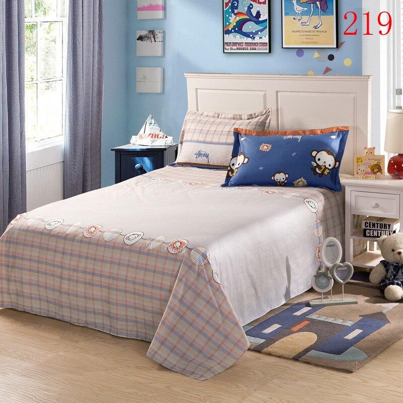 Warm Monkey Single Double Bed Sheet Linens Cotton Flat