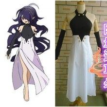 Ningún serafín de owari cosplay asuramaru traje dress + guantes + headwears + orejas