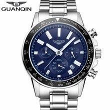 Relogio Masculino Guanqin hommes montres Top marque de luxe affaires en acier inoxydable montre à Quartz hommes Sport étanche montre bracelet