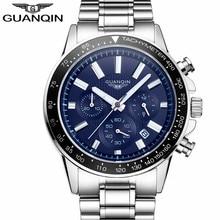 Relogio Masculino Guanqin relojes para hombre de lujo de negocios de acero inoxidable reloj de cuarzo para hombres reloj de pulsera deportivo impermeable