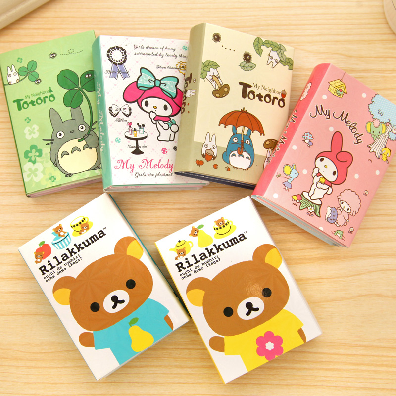 Kawaii Cartoon Memo Pad Sticky Notes with Different Styles / N Times Posted Note Book Message Notebook Office & School Supplies