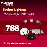 Aputure Amaran Беспроводной видео HR672 CRI95 + светодиодный видео Панель 5500 К и 2,4 г Беспроводной удаленного светодиодный видео HR672SSW комплект