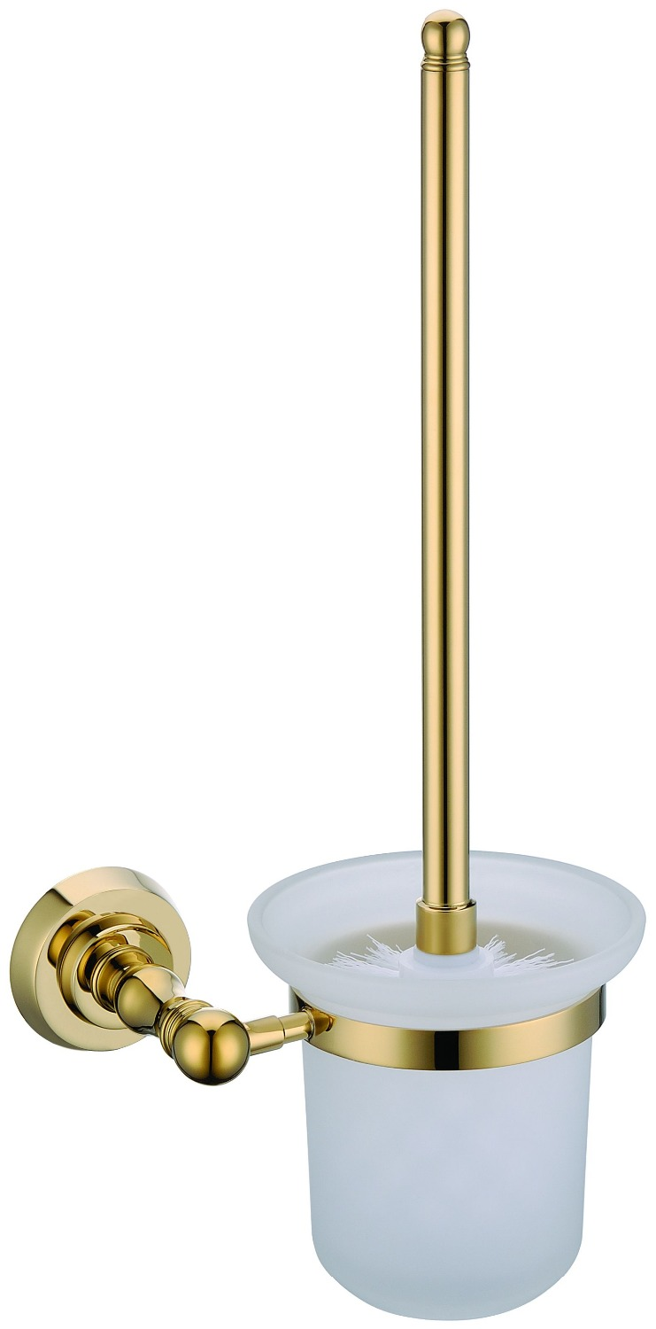 FREE SHIPPING new design 24k GOLD Round toilet brush holder D free shipping new design 24k rose gold double tumbler holder cup