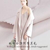 De nieuwe Australische wol lam haar stof rijst meel dubbele dubbelzijdige wol stof verdikking wollen jas stof groothandel wol doek