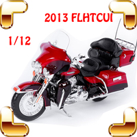 New Year Gift DH Flhtcui 1/12 Model Motorcycle Car Collection Present For Decoration Alloy Motor Toys Simulation Scale Present