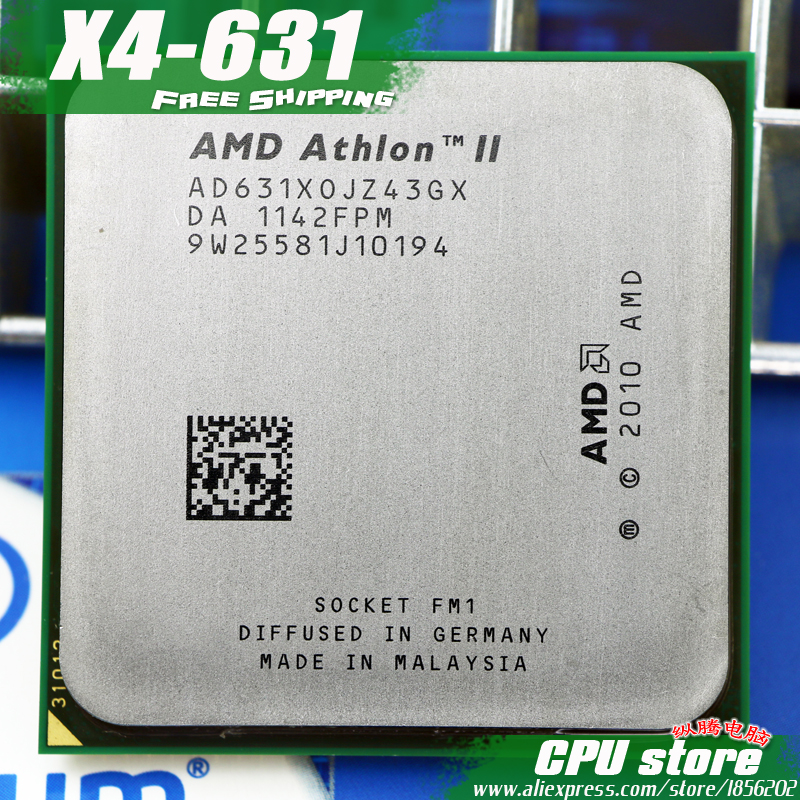 Free Shipping  AMD X4 631 Quad-Core FM1 2.6GHz 4MB 100W CPU Processor  Pieces X4-631 (working 100%)  631 ,there Are, Sell X4 641
