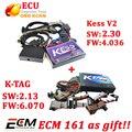 KESS Kit NoToken limitação KESS ECU Tuning chip fw4.036 V2.30 + v2.13 fw 6.070 k tag ktag ecu ferramenta gratuita ecm titanium software