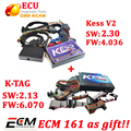 KESS V2.30 fw4.036 ECU chip Tuning Kit NoToken limitation KESS + KTAG V2.13 FW 6.070 K tag ecu tool free ECM titanium software