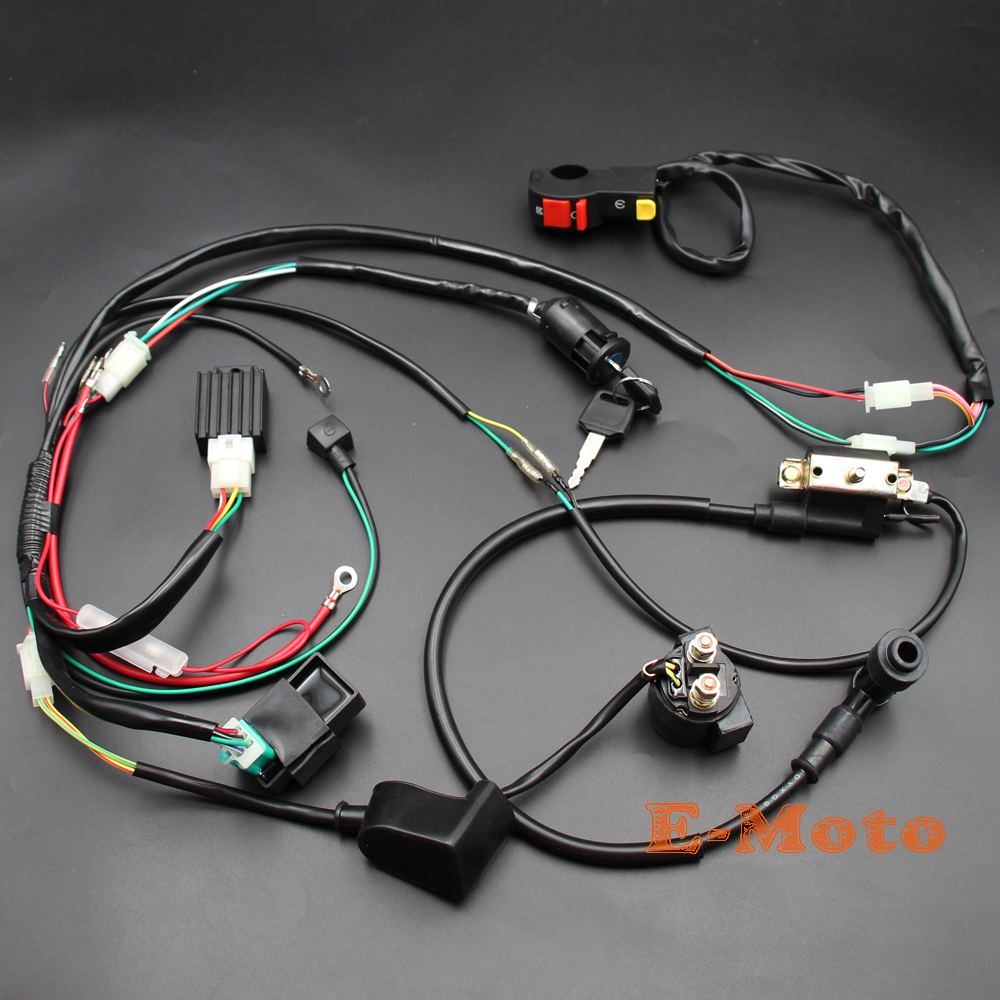 Full Wiring Harness Loom Ignition Coil Cdi D8ea For 150cc 200cc New Motorcycle Solenoid Rectifier 50 70 90cc 110cc 125cc