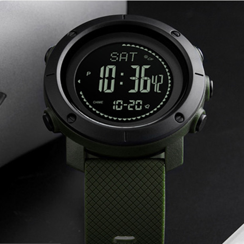 Sports Watches Women Pedometer Calories Digital Watch Men Altimeter Barometer Compass Thermometer Weather Reloj Hombre Male Digital Watches