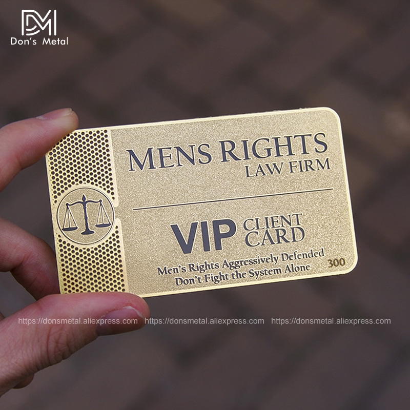 High-grade Gold Card Metal Business Card Metal Membership Card Custom Stainless Steel Business Card Making