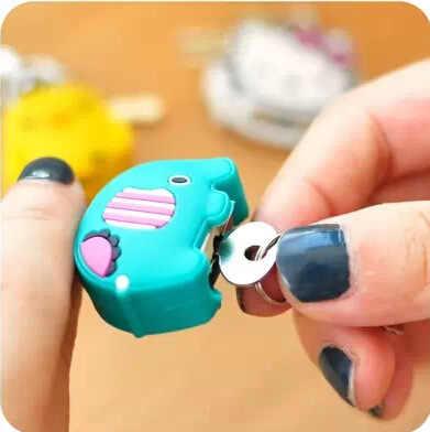 น่ารักมินิการ์ตูนกุญแจ Key Lock กุญแจล็อคสำหรับกระเป๋าสะพายกระเป๋าถือกระเป๋าเป้สะพายหลังลิ้นชัก/Tiny Craft party favor