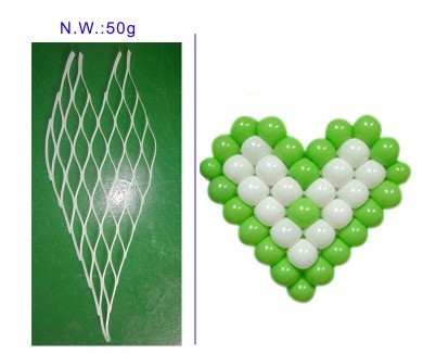 2 unids/lote Globos de Látex Corazón modelo de Rejilla para Automóvil o una sala de Decoración con globos de Boda herramienta accesorio Adecuado para 5 pulgadas globo