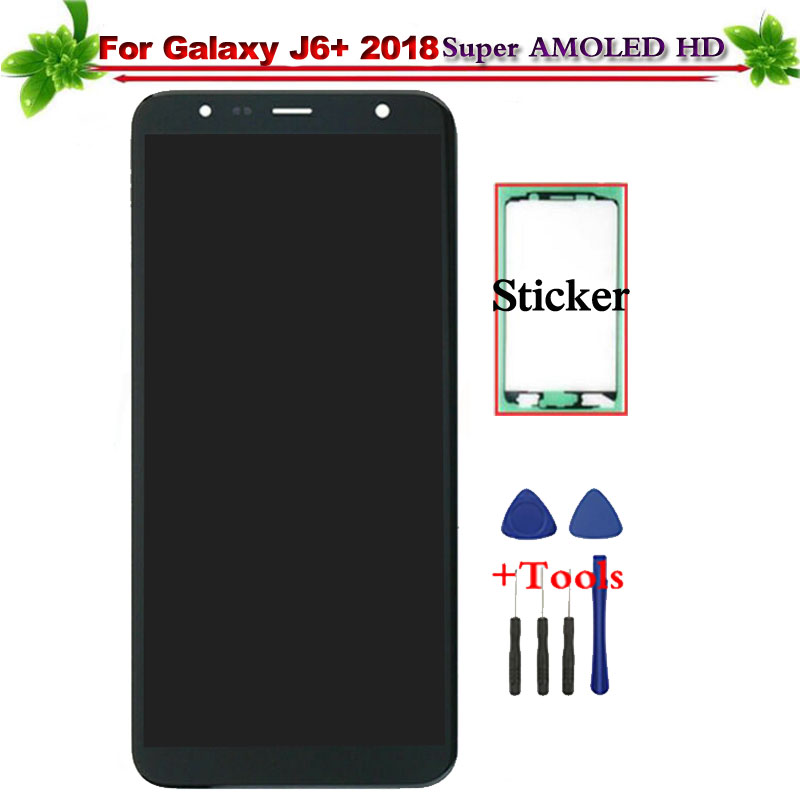 Super Amoled for Samsung Galaxy J6+ 2018 J610 SM-J610F J610FN LCD Display Touch Screen Digitizer Assembly Replacement for J6+Super Amoled for Samsung Galaxy J6+ 2018 J610 SM-J610F J610FN LCD Display Touch Screen Digitizer Assembly Replacement for J6+