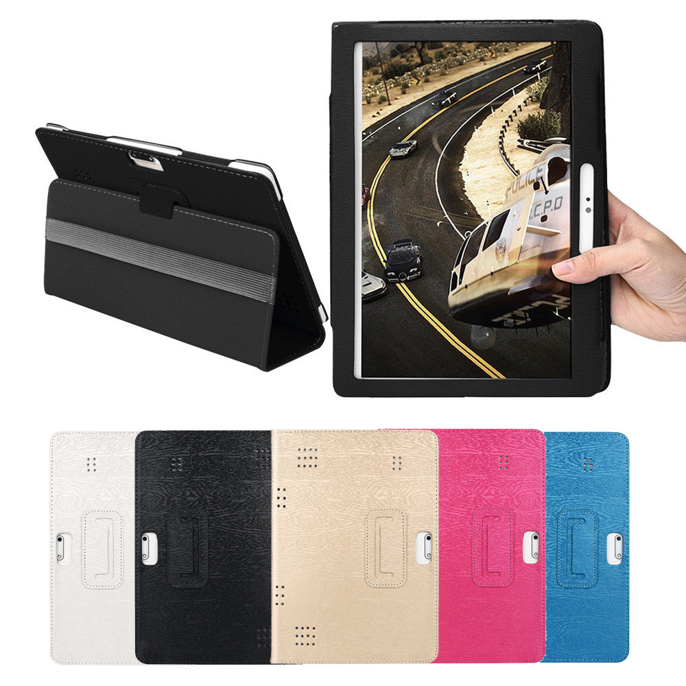 Tablet Case For 10 10.1 Inch Tablet Leather Flip Case Universal Folio Leather Stand Cover Case For 10 10.1 Inch Android PC universal crazy horse leather stand cover for ipad air sony xperia tablet z 10 inch tablet pc black