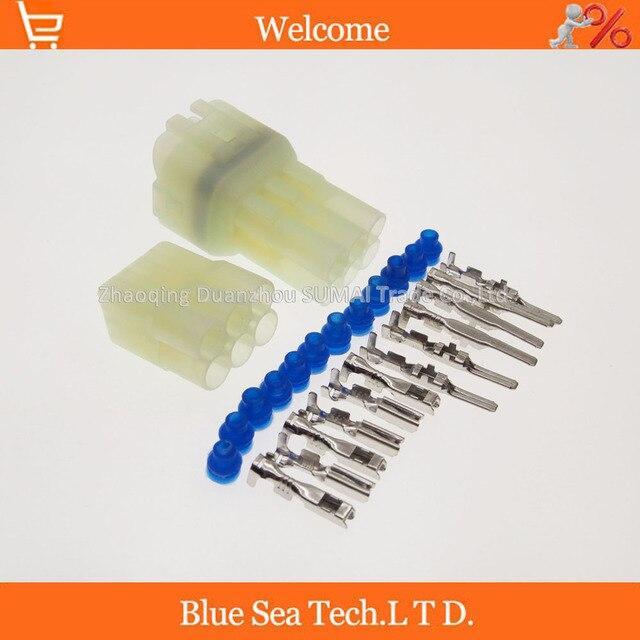 6 clavijas/vías macho y hembra auto sensor enchufe, coche impermeable sensor de oxígeno eléctrico conector para SUMITOMO, Toyota, Honda etc.