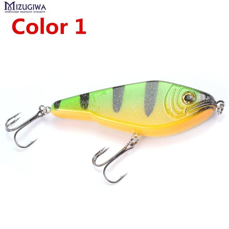 1pc mizugiwa pike jerkbait musky fishing lure 120mm 50g for Musky fishing lures