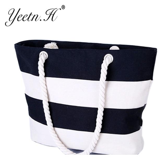 Quality Women's Top-Handle Bag Canvas Handbags Fashion Large Beach Bags Shoulder Bag 3