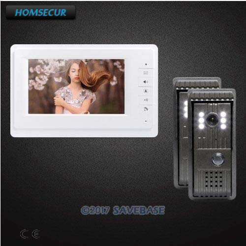 HOMSECUR Color 7inch Video Door Entry Call System with One Button Unlock for Home Security homsecur 7 wired video door entry call system with one button unlock for home security