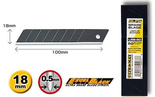 OLFA Blade Black Type 18mm  LBB 10 LBB 50 PL 1 L 1 L 2 L 3 OL FL CL ML SL 1 EXL XL 2 BN L BN AL NOL 1 NL AL|blade origins|blade hacksaw|blade spray -