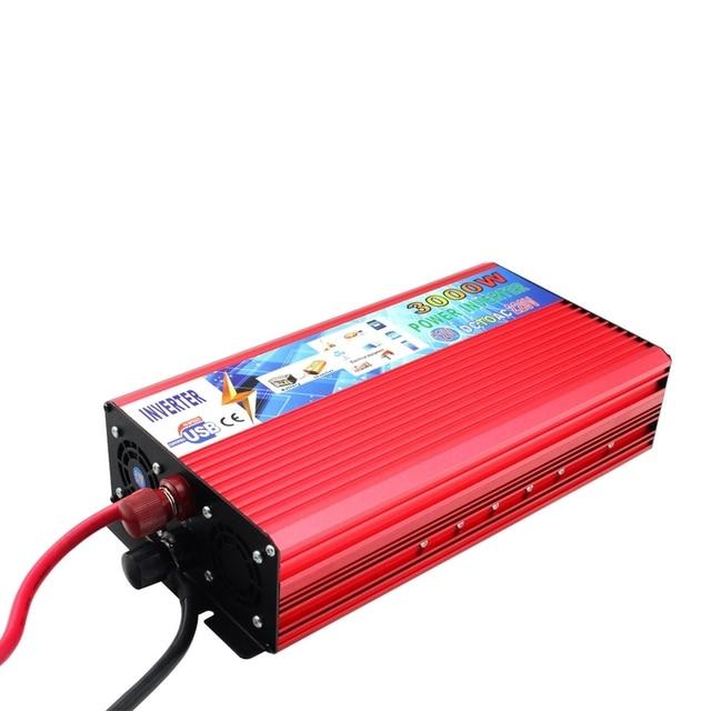 12 V 220 V Inverter di Potenza 3000 W Auto Inverter 12 v a 220 v Inverter Convertitore Portatile Auto di Potenza caricatore di alimentazione USB