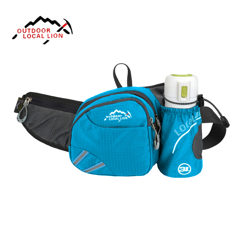 Running Waist Pack Lightweight Sport Belt Bag Outdoor Multifunction Waterproof Run Pack With Bottle Holder