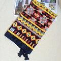 Women Cotton Scarf Geometric Bright Color Long Shawl Large Twill Bandana Brand New