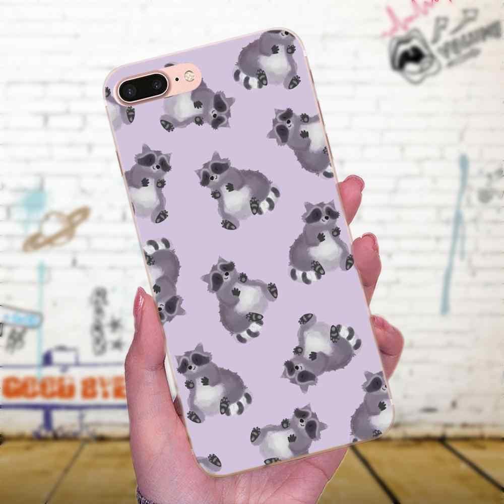 Animal Raccoon Art Novelty Fundas For Xiaomi Note 3 4 Mi3 Mi4 Mi4C Mi4i Mi5 Mi 5S 5X 6 6X 8 SE A1 Max Mix 2 TPU Print Phone