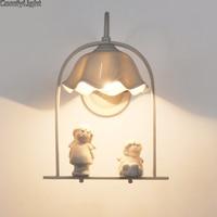 אמנות קישוט בית קיר זכוכית פמוט קיר ליד מיטת אור מנורת LED פוייר סלון זכוכית קריסטל מנורת קיר חדר ילד