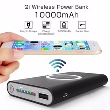 Qi Wireless Charger 10000mAh Power Bank For iPhone X 8 Plus Samsung Note 8 S9 S8 Plus S7 Portable Powerbank Mobile Phone Charger цены