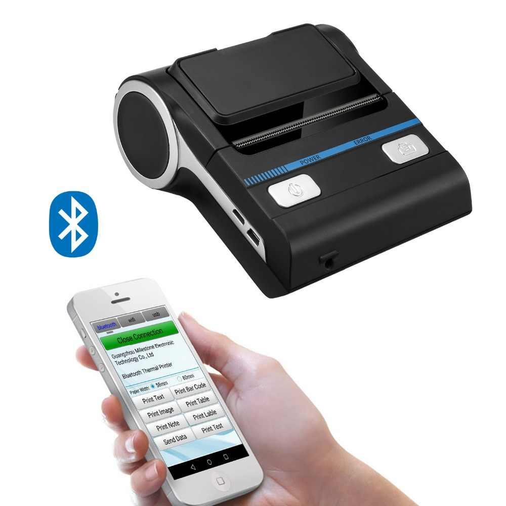 Milestone 80mm bluetooth pos impressora android recibo bill impressora máquina MHT-P8001 para pequenas empresas impressora térmica