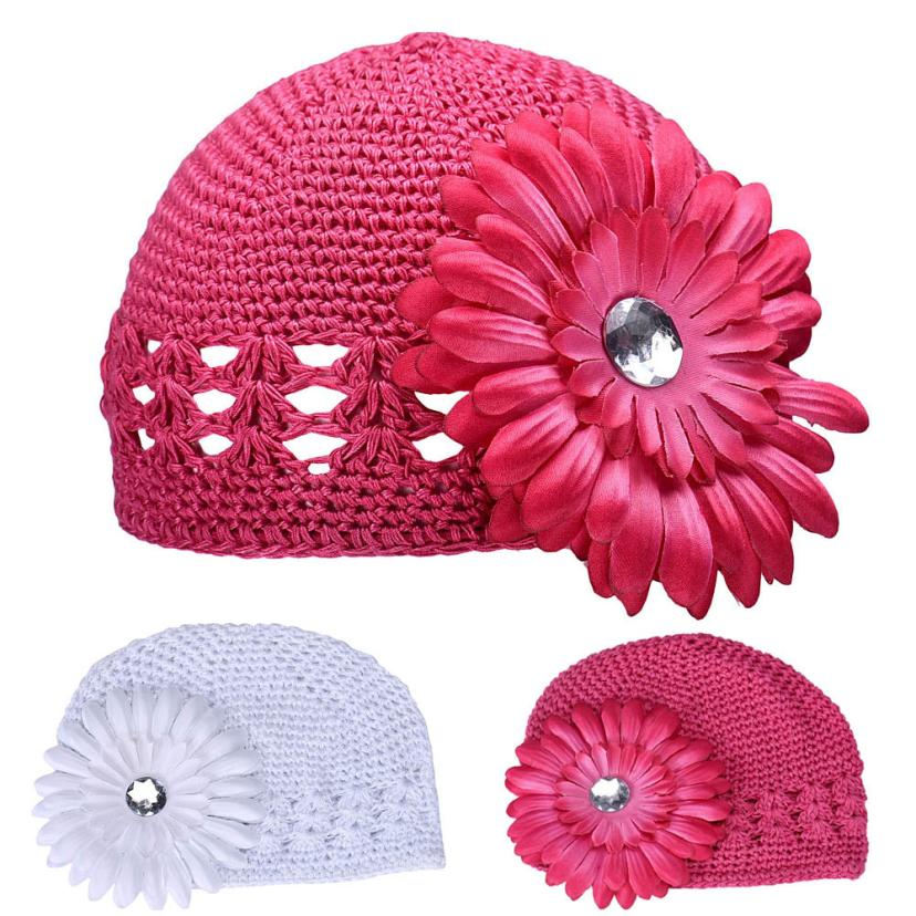 ᐅhat 2016 knit cap for newborns flowers baby hats for girls ...