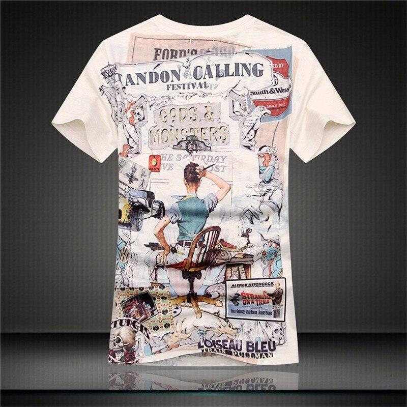 64717e6b2 2017 vintage punk Short Sleeve V Neck 3D printed T shirt Men brand Casual  Cotton Tshirt Camiseta HombreTops Tees Men\'s ClothingUSD 10.59/piece