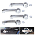 4 pcs abs chrome door handle capa guarnição para jeep wrangler jk liberdade dodge nitro 2008 2009 2010 2011 2012