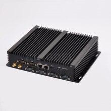 Win 10 Дополнительно Дешевые безвентиляторный промышленный компьютер Barebone с Intel i3 4010u ЦП 6 портов com 8 ГБ оперативной памяти Mini Настольный ПК Dual LAN