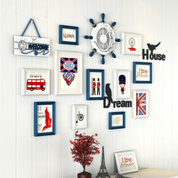 11Pcs Set Modern Picture Frames Set Wall Decoration Wooden Picture Photo Frame Set For Wedding Picture