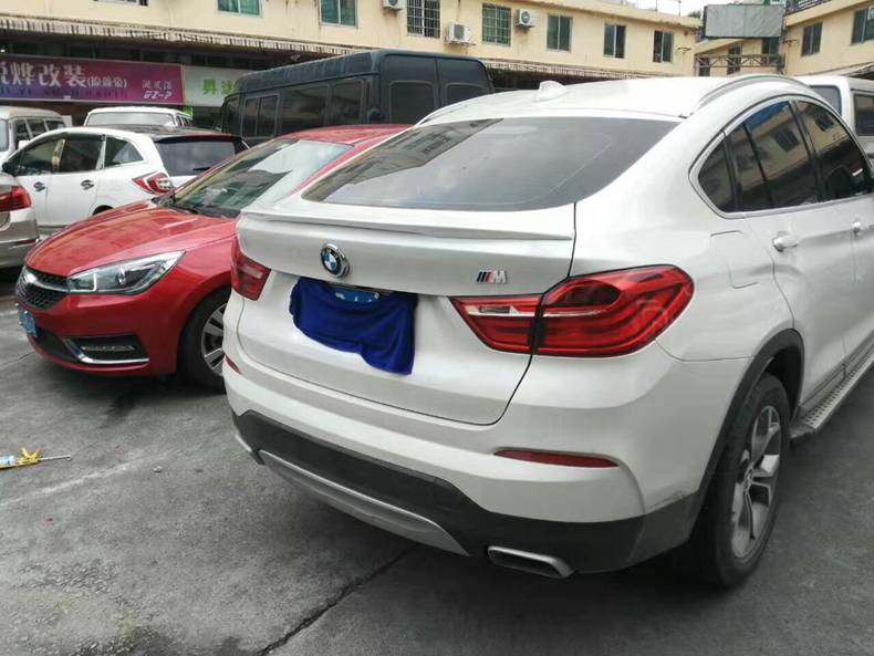 For Bmw X6 2014 2015 2016 X6 F16 Spoiler Abs Material Rear Roof